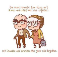 And I can't wait to grow old with you.