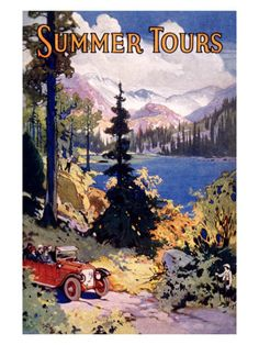 Summer Tours, Union Pacific Railroad Giclee Print at AllPosters.com