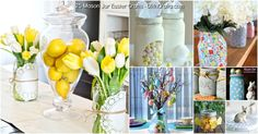 Easter is just around the corner, hopping it's way to us very soon. In celebration of the upcoming holiday, I've found 25 wonderful ways that you can incorporate mason jars into your Easter decorating. Mason jars can be used for everything from vases and candle holders to actual Easter baskets...