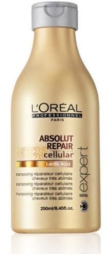 This is the L'Oreal Absolut Repair Lactic Acid Cellular shampoo. We love this product SO much, and it goes so well with the masque in that range. Both products leave hair smooth and silky, and does a great job for thick, course hair!
