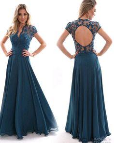Vestido azul petróleo lindo divo  #LaMarieju