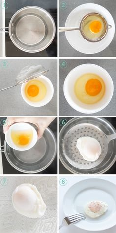 Learn how to poach an egg perfectly with the tips in this How-To recipe. These perfect poached eggs with oozing yolks make breakfast dreams come true. Perfect Poached Eggs, Soft Boiled Eggs, Steak And Eggs Diet, How To Make A Poached Egg, How To Cook Eggs, Egg Benefits, Egg And Grapefruit Diet, Boiled Egg Diet Plan, Omelettes