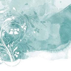 Turquoise watercolour Floral Background Free Vector