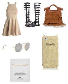 """Hippie chick"" by lindsey-2-1 ❤ liked on Polyvore featuring AX Paris, Stuart Weitzman, Kate Spade, Illesteva, Dogeared and Foley + Corinna"
