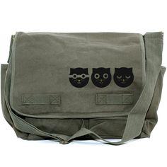 CLEARANCE  Messenger Bag Three Musketeers Watson by mediumcontrol, $36.00