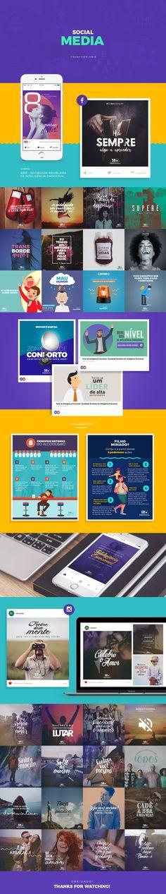 Coleção dos projetos de Social Media desenvolvidos para a SBie - Sociedade Brasileira de Inteligência Emocional.