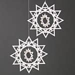 Another standout design from Livingly, but this time for the tree. The Ice Crystals are a Danish Christmas classic made from intricately cut paper and hung from string.