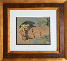 Lot: Frida Kahlo water color  on paper signed painting, Lot Number: 0108, Starting Bid: $900, Auctioneer: Best International Auction, Auction: BEST INT'L AUCTION JAN 16TH- Consignments , Date: January 18th, 2017 CET