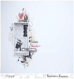 Ma page d'après les consignes du challenge de Novembre chez Inspiration Création... - Le blog Scrapbooking de Flore