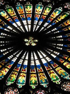 stain glass rose window