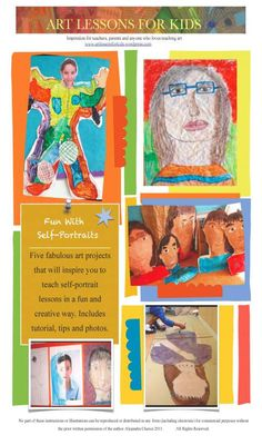$5usd--Want some fun ideas for your portraits or self-portrait lessons? I have put together five fabulous art projects in a 25-28 page PDF booklet, that will inspire you and your students in fun and creative ways with inexpensive items found in your classroom or around the home. Includes tutorial, tips and photos. www.artlessonsforkids.me