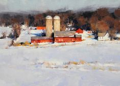 Many of today's most accomplished plein air painters will exhibit freshly painted works at the Door County plein air event. The 2015 Door County Plein Air Festival runs July with an exhibition of the created paintings opening on the fi Painting Snow, Winter Painting, Artist Painting, Painting Classes, Gouache Painting, Winter Landscape, Landscape Art, Landscape Paintings, Landscapes