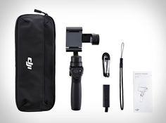 ODJI Osmo Móvel é uma opção que transforma seu smartphone em um estabilizador semi-profissional. A câmera do seu smartphone passa a ser um captador de imagens de um verdadeiro cineasta de alto nível. É um dispositivo in