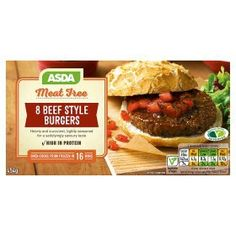 Asda Meat Free 8 Beef Style Burgers Food