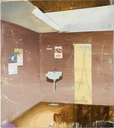 PROPERTY FROM THE ESTATE OF JAN KRUGIER MATTHIAS WEISCHER B.1973 WASCHRAUM signed and dated 2001 on the reverse oil and oilstick on canvas via Sotheby's