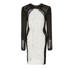 Balmain Crochet Mini Dress ($1,650) via Polyvore featuring dresses, balmain, black, macrame dress, short mini dress, mini dress and short dresses