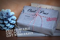 Free printable owl post gift wrap paper by celestefrittata, via Flickr