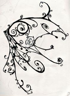 Butterfly wing ink by SlavicWolf on DeviantArt