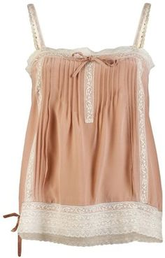Shop women's tank tops from designer brands at Farfetch. Find designer sleeveless tops for women and designer vests all in one place. Lace Camisole, Beige Top, Vintage Lace, Style Me, Tank Tops, Tanks, American Rag, How To Wear, Outfits