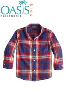 The fashion-forward boys are going to absolutely love the wholesale indigo shirt range by Oasis Kids Clothing. This top manufacturer provides custom options.