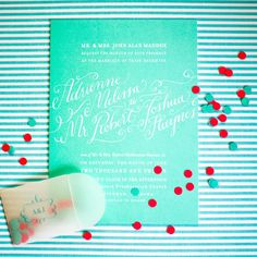 Holly Holon Calligraphy Wedding Invitations via Oh So Beautiful Paper (10)