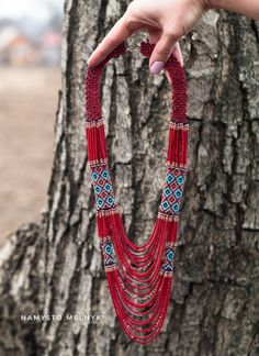 Burgundy turquoise Southwest jewelry, Tribal beaded boho gypsy necklace, Mother gift from daughter, Ukrainian jewelry, Statement necklace Indian Necklace, Red Necklace, Short Necklace, Beaded Necklace, Mother Necklace, Boho Gypsy, Bohemian Jewelry, Beaded Jewelry, Gypsy Style