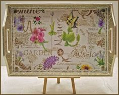Lavendula Loveliness: Garden and Nature themed trays by Sandra Foster. See blog post for closeup etc.