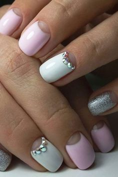 57 Special Summer Nail Designs For Exceptional Look - Christina Marie - Free White Nail Designs, Ombre Nail Designs, Nail Art Designs, Pink Nails, My Nails, Hair And Nails, Trendy Nails, Cute Nails, Nail Art Pastel