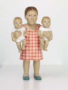 Two Hands, Claudette Schreuders (South African, born Pretoria, Jelutong wood and enamel paint South African Art, Family Album, Creepy Dolls, Second Baby, Land Art, Mother And Child, Metropolitan Museum, Sculpture Art, Teddy Bear