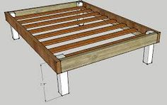 how to build a bed frame out of 2x4 - Google Search