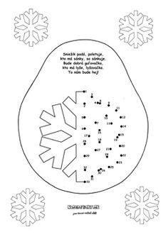 Spájame bodky. Snehová vločka. - Aktivity pre deti, pracovné listy, online testy a iné