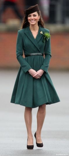 Kate Middleton for St. Patty's Day 2012/ I love her feminine class!  LOVE IT!