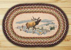 Winter Elk Printed Area Rug