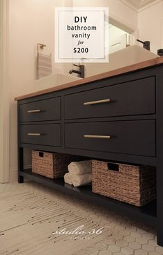Inspect this out Diy Bathroom Renovation Diy Bathroom Vanity, Diy Bathroom Remodel, Bathroom Renovations, Bathroom Furniture, Modern Bathroom, Bathroom Ideas, Bathroom Organization, Master Bathrooms, Small Bathrooms