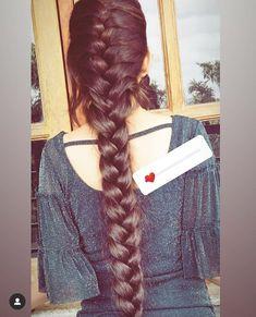 French Braid Hairstyles, Braided Hairstyles, Cool Hairstyles, Long Thick Hair Hairstyles, Long Indian Hair, Braids For Long Hair, Beautiful Long Hair, Hair Photo, Love Hair