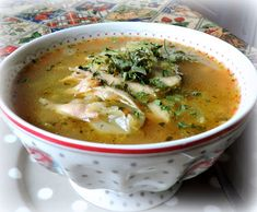 The English Kitchen: Roast Chicken Soup with Barley, Parsnips & Cabbage