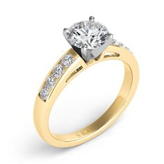 Engagement Ring style number EN1616YG.