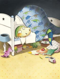 Màriam Ben-Arab   MÀRIAM BEN-ARAB ~ Il.lustració ~ Ilustración ~ Illustration . David the dinosaur.