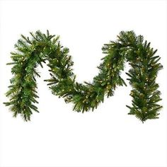9 ft. x 14 in. Pre-Lit Mixed Pine Cashmere Artificial Christmas Garland Clear...