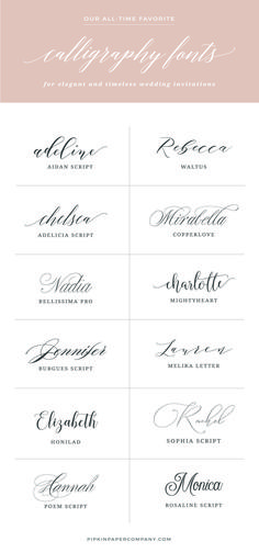 Want to know the secret to DIY wedding invitations that don't look DIY? The font! Here are the best fonts for wedding invitations that won't break the bank. #weddinginvitation #BestWeddingTips