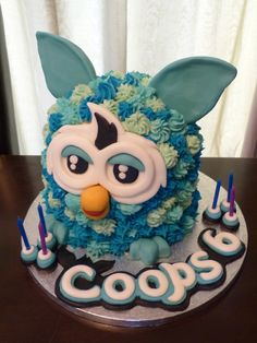 Furby Boom wavw cake whoever's cake is this is lucky cause it look's awesome !!!!!!!! :)