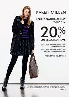 Khuyến mãi KAREN MILLEN     ENJOY NATIONAL DAY - 20% OF