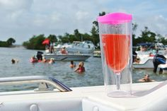 The Ultimate Summer Must Have!Out on the boat in Cocoa Beach, FL.Relaxing, sunbathing, and enjoying good company.Best part about my new Vino2Go XL, is that it makes my drinks boat safe! No glass allowed on boats, so it's perfect!