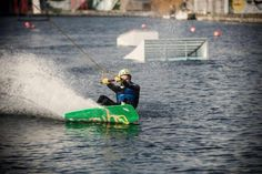 Cable wakeboarding on Grand Canal Dock in Dublin. You gotta love this city! #LoveDublin