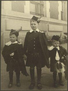 Scottish boys at Ellis Island.