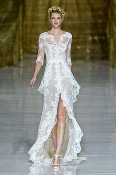 haute couture brautkleider weisse spitze