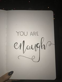 #inspirational #quote #enough #handlettering #InspirationalQuotes #inspirationalquote