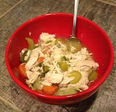 Bodybuilder Chicken Soup - contest prep food for sick figure girls