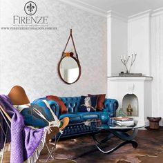 papel tapiz   #Firenze,#hogar, #tapiz, #sofa, #decoracion, #muebles, #home, #decoration, #furniture, #avantgarde, #livingroom, #couch, #blue #tapestry #leather