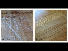 Have ugly scratches in your wood floors? Here are our best tips for wood floor scratch repair. Hardwood Floor Scratches, Scratched Wood Floors, Hardwood Floor Repair, Old Wood Floors, Hardwood Floors, Cleaning Wood Floors, Wood Flooring, Modern Country Kitchens, Diy Cleaning Products